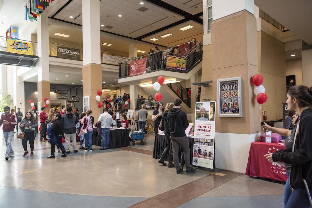 photo of Bell Memorial Union atrium