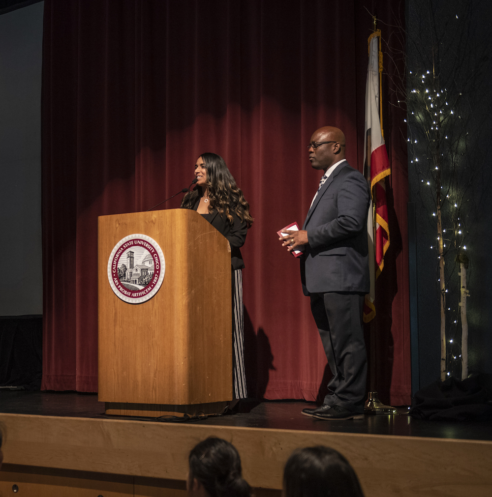 photo of speaker at podium