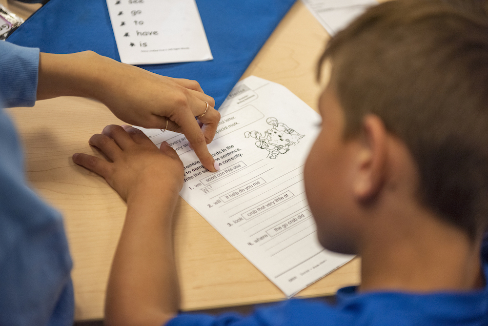photo of kid learning