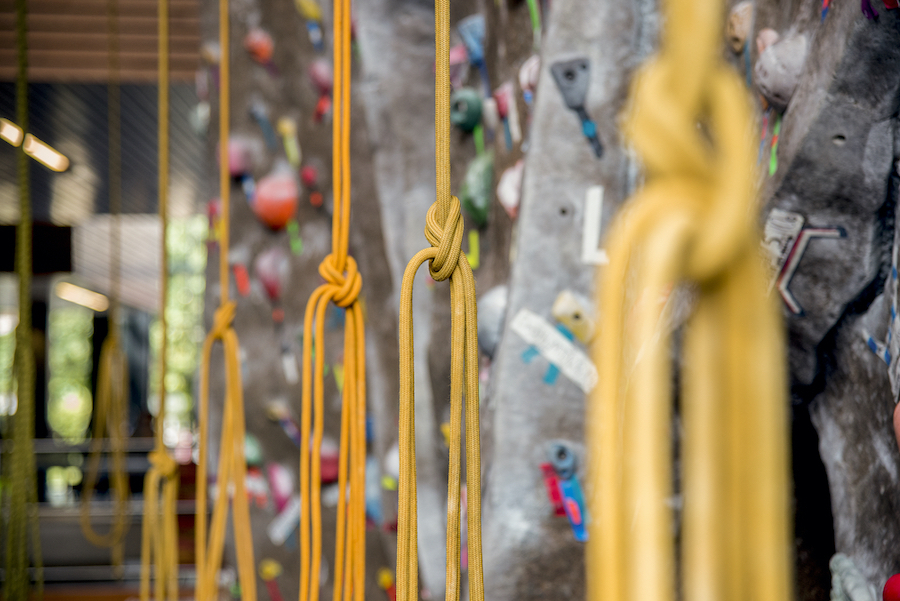 photo of climbing wall