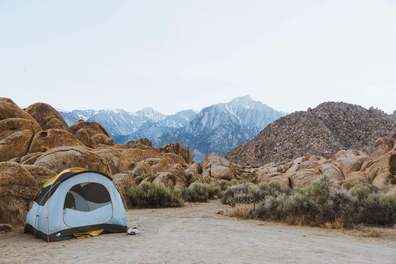 photo of tent on mountain