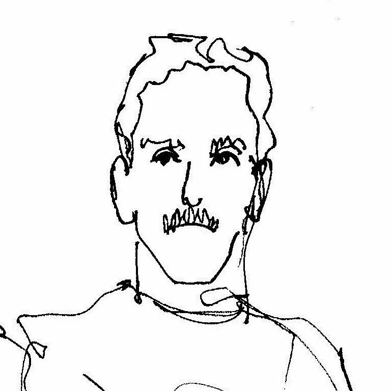 sketch of Jon Slaughter